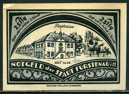 257-Furstenau 25, 50, 75pf Et 1m 1921 - [11] Local Banknote Issues