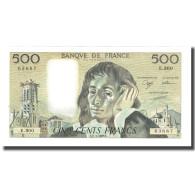 France, 500 Francs, Pascal, 1989, BRUNEEL, BONARDIN, VIGIER, 1989-03-02, NEUF - 500 F 1968-1993 ''Pascal''