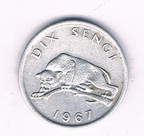 10 SENGI 1967 CONGO /6080/ - Congo (Republic 1960)