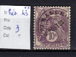 Préoblitéré N° 43 Neuf **  TTB - 1893-1947