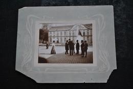 Photo Originale Ancienne Animée Fin XIXè Début XXè Intitulé M. Habets Cockerill VOIR VERSO RARE Passe Papier Art Nouveau - Luoghi