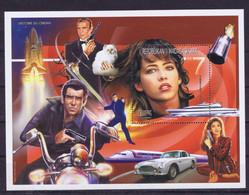 Madagascar Space 1999 Centenary Of The Cinema, James Bond, Moonraker  Nice Sheet - Madagascar (1960-...)