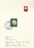 "PTT Bögli  ""Olympia St.Moritz - Winterthur""          1948 - Covers & Documents"