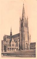 Ypres (Belgique) - Place Van Den Peerenboom - Le Théâtre Et La Cathédrale St. Martin - Ieper