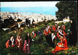 """►    CPSM   Corse  Groupe Folklorique """" I Macchiaglioli""""  En Sortie à   Erbalunga - Bastia"""