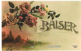 67  UN BAISER   DE  OBERNAI  CPM  TBE   393 - Obernai