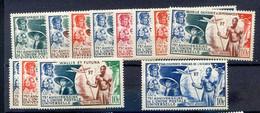 Série Coloniale 1949 UPU, PA 12 Valeurs Neuf XX - 1949 75e Anniversaire De L'UPU