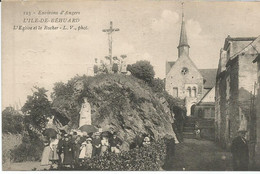 L' ILE DE BEHUARD  - L' EGLISE ET LE ROCHER - Andere Gemeenten