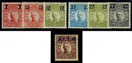 SCHWEDEN 107 * + 109-114 * = Sverige Facit 97, 99-104 * = Suède Yvert CP1 + 106-111 Neuf = Sweden Scott #99-104 + Q1mh - Neufs