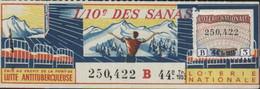 Lutte Antituberculeuse Billet De Loterie Nationale 1/10e Des Sanas Timbre Tuberculose - Antituberculeux