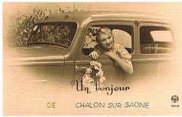 71  UN  BONJOUR  DE  CHALON  SUR  SAONE   CPM  TBE   398 - Chalon Sur Saone