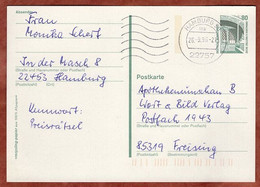 Ganzsache Zeche Zollern Dortmund, MS Welle Hamburg 1996 (4811) - Cartes Postales - Oblitérées