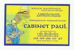 Carte De Visite °_ Carton-Tarologue.Astrologue-Paul-34 Montpellier - Visiting Cards