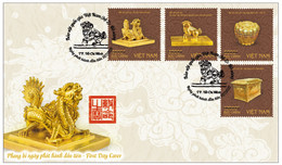FDC Vietnam Viet Nam Cover Issued On 31 Jul 2021 : National Treasure Treasures : GOLD ITEMS (Ms1145) - Vietnam
