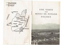 Livret Visite Aux MINES De POTASSE D'ALSACE - Puits Haveuse Engrais - Tourisme
