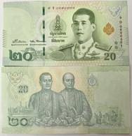 Thailand 20 Baht ND 2018 / 2021 P 135 Sign 89 DaoChye UNC - Thailand