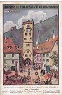 68 RIBEAUVILLE Carte Publicitaire Chemin De Fer D'Alsace Et Lorraine ,services Automobiles De La Route Des Vosges - Ribeauvillé