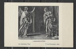 Image Pieuse Art Catholique   L'Annonciation - P. De Champaigne Ange.... - Devotieprenten