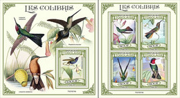 Togo 2021, Animals, Hummingbirds, 4val In BF +BF - Sperlingsvögel & Singvögel