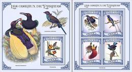 Togo 2021, Animals, Birds Of Paradise, 4val In BF +BF - Sperlingsvögel & Singvögel