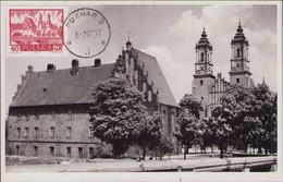 Poland / Poznan Cathedral Church, Architecture, Postcard 1960 Stamp, P70 - Eglises Et Cathédrales