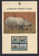 "2000 Nepal  WWF  ""Gefährdete Wildtiere Nepals"" Komplettes Kapitel - Collections, Lots & Series"