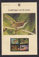 "2001 St. Lucia  WWF  ""Landvögel St. Lucia"" Komplettes Kapitel - Lots & Serien"