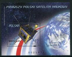 POLAND 2011 First Polish Satellite Block MNH / **. .. Michel Block 200 - Unused Stamps