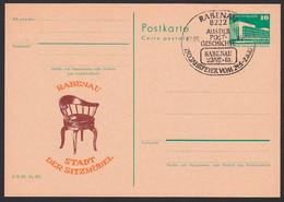Rabenau C-Ganzsache 13-85, SoSt. 750 Jahrfeier, Zudruck Stuhl, Stadt Der Sitzmöbel, Armlehnstuhl - Privatpostkarten - Gebraucht
