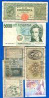 Italie  6  Billets - Non Classés