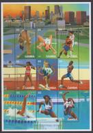 1996. GAMBIA. Olympics. Sheet. Never Hinged. (Michel 2402-2410) - JF422954 - Gambia (...-1964)