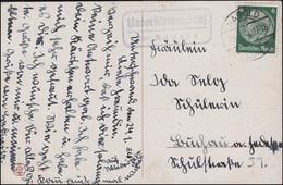 Landpost Unterschwandorf über NAGOLD LAND 25.1.1934 Auf AK Mädchen Mit Blumen - Covers