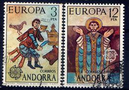 ANDORRE ESP. - N° 89/90° - EUROPA / PEINTURES DE L'EGLISE D'ORDINO - Gebraucht