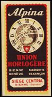 1905. SCHWEIZ. Alpina. UNION HORLOGERE. SIEGE CENTRAL BIENNE (SUISSE). Hinged.  () - JF423138 - Sin Clasificación