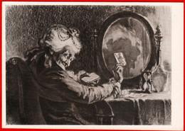 31964 The Queen Of Spades Pushkin Sveshnikov Mirror Dressing Table Card Divination Solitaire Gadalkin Hourglass 1959 - Rusland