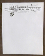 Pubblicità Fattura Angelo Crespi - Cartiere Del Ticino - Vigevano - Inizio '900 - Publicités