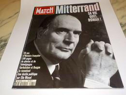 PARIS MATCH MITTERAND SA VIE QUEL ROMAN  1996 - 1950 - Heute