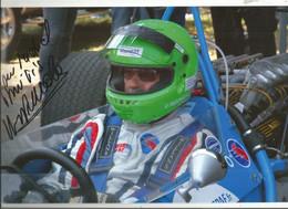 JX / PHOTO Originale  PUB Ancienne   SPORT AUTOMOBILE Rallye Auto Course VOITURE RALLYE Pilote Dédicacée  PESCAROLO - Automobilismo - F1