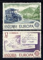 ANDORRE ESP. - N° 116/117° - EUROPA - Gebraucht