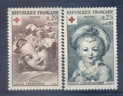 France 1962 - Y & T  N. 1366/67 - Au Profit De La Croix-Rouge (Michel N. 1418/19 A) - Unused Stamps