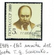 URSS - SG 5976   - 1989  T. SHEVCHENKO, ARTIST   - USED° - Usati
