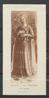 Image Pieuse Art Catholique N° 381 Un Ange  - Fra Angelico.... - Devotieprenten