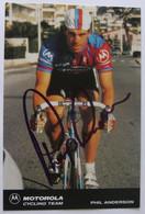 Phil ANDERSON - Signé - Dédicace - Autographe Authentique - - Wielrennen