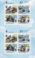 Guinea Bissau 2021, WWF, Eagles, Overp. Yellow, 8val In Sheetlet - Marine Web-footed Birds