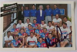 Phil ANDERSON Et Le Team MOTOROLA 1992 - Signé - Dédicace - Autographe Authentique - - Wielrennen