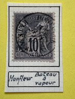 Timbre Oblitéré Honfleur Bateau à Vapeur 7 Juin 1878 TB Numéro 89 - 1876-1898 Sage (Type II)