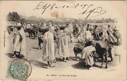 CPA AK SETIF Le Marche Arabe ALGERIE (1145460) - Setif