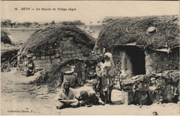 CPA AK SETIF Un Gourbi De Village Negre ALGERIE (1145470) - Setif
