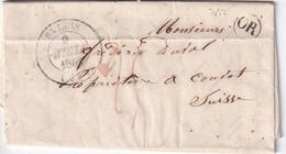 FRANCE 1852 LETTRE DE SALINS AVEC CORRESPONDANCE - 1801-1848: Precursori XIX