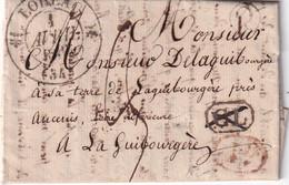 FRANCE 1836 LETTRE DE LOHEAC AVEC CORRESPONDANCE - 1801-1848: Precursori XIX